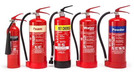 انواع طفايات الحريق وأنواع الحرائق والطفايات المناسبة لها