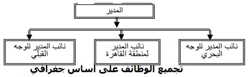 تجميع الوظائف - الهيكل التنظيمى - جغرافيا
