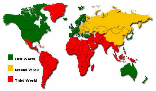 دول العالم الاول والثانى والثالث والدول الصناعية الجديدة