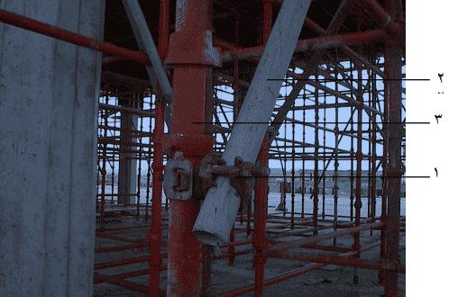 وصلات الربط بين النهايز الحديدية مع قوائم الشدة المعدنية