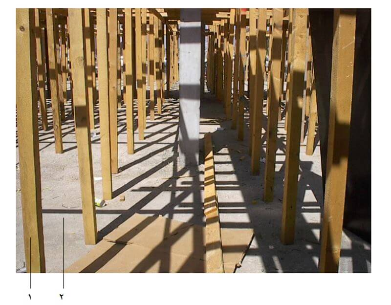 الشدات الخشبية للاسقف والكمرات - مكوناتها وتنفيذها بالصور